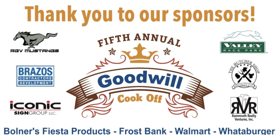 Sponsors Thank you for the Cook Off