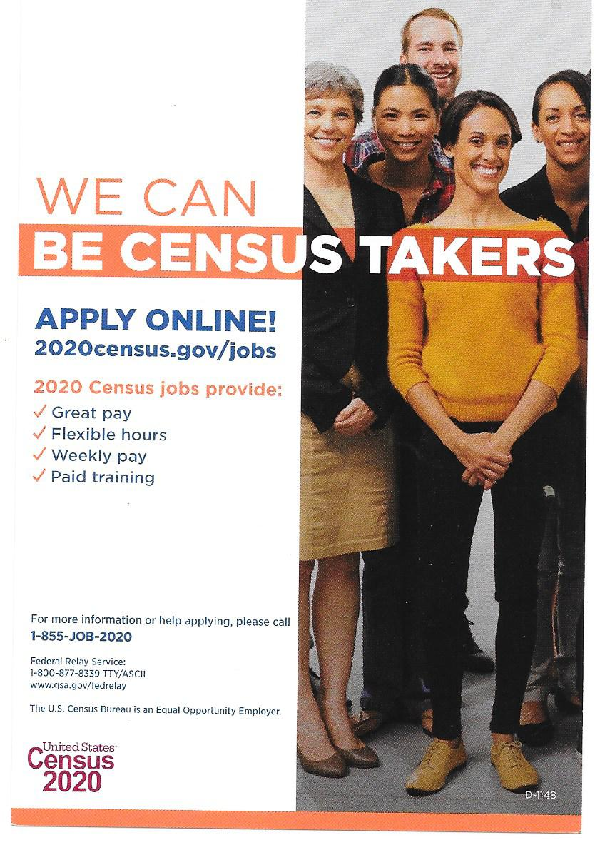 Now Hiring 2020 Us Census Takers Goodwill Industries Of