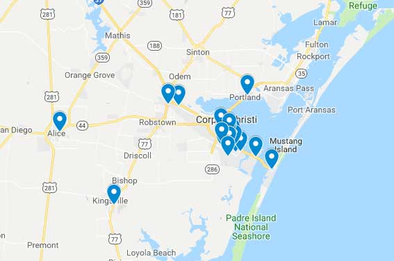 Goodwill South Texas Store Location Map