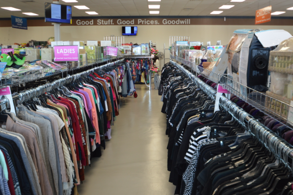 Woman Shopping in at a Goodwill South Texas Store